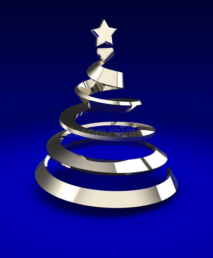 Download Metallic tree stock illustration. Image of greeting, shiny - 27634502