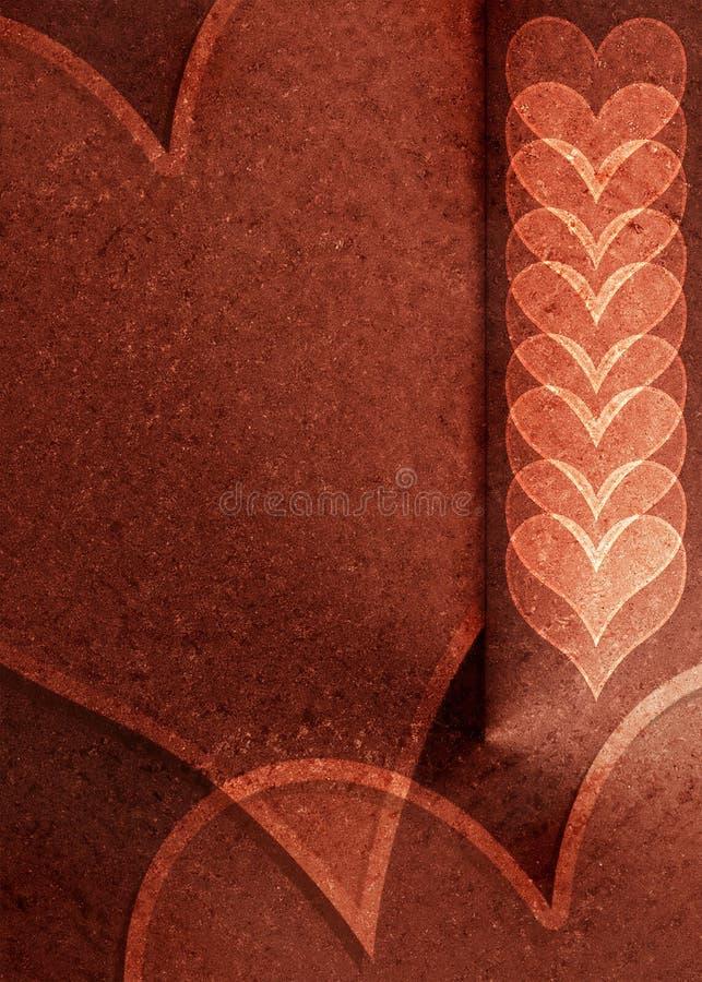 Metallic valentine royalty free stock image