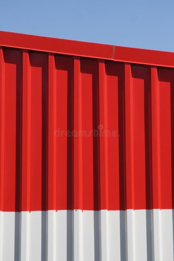 Metallic wall of a warehouse stock photography