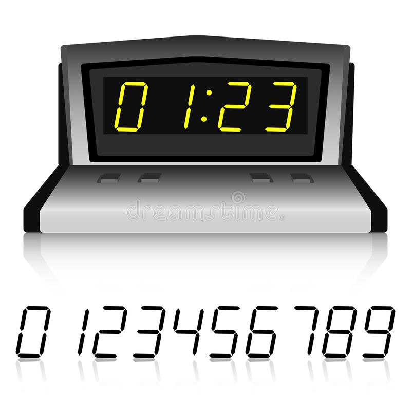 Metallic watch with set of numbers royalty free stock image