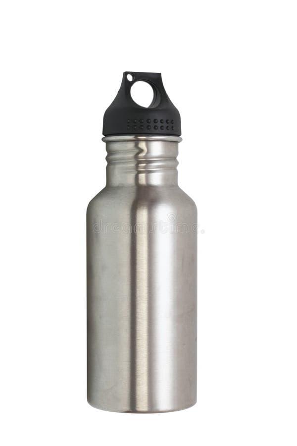 Metallic water bottle royalty free stock images