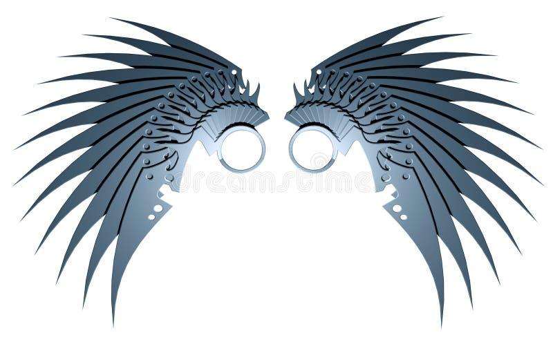 Download Metallic wings stock illustration. Image of element, part - 15966905