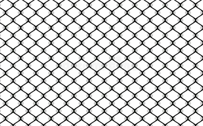 Metallic wired fence pattern on white background vector illustration