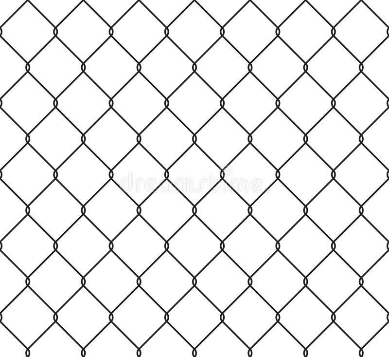 Metallic wired fence seamless pattern vector illustration