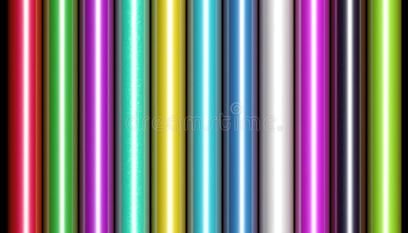 Shiny Wrapping Paper. Row of colorful wrapping paper vector illustration