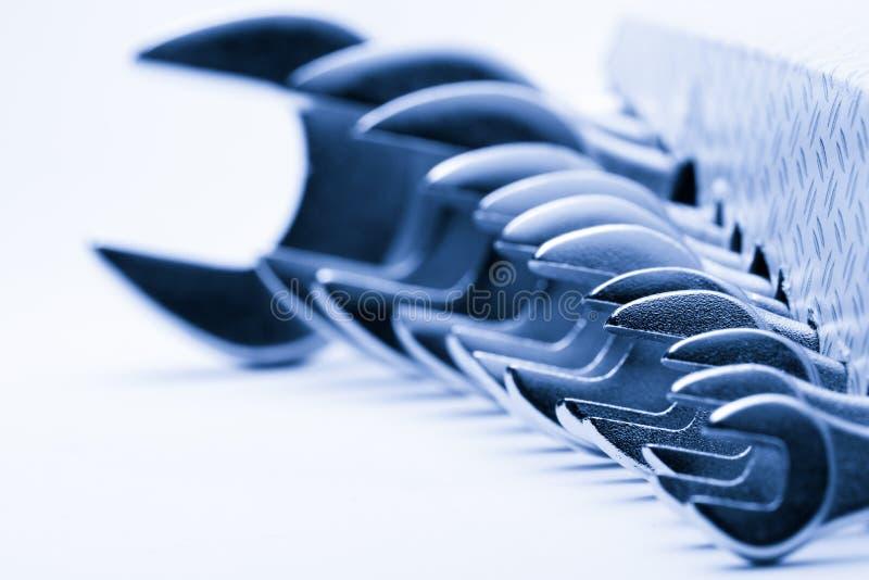 Metallic wrenches royalty free stock photo