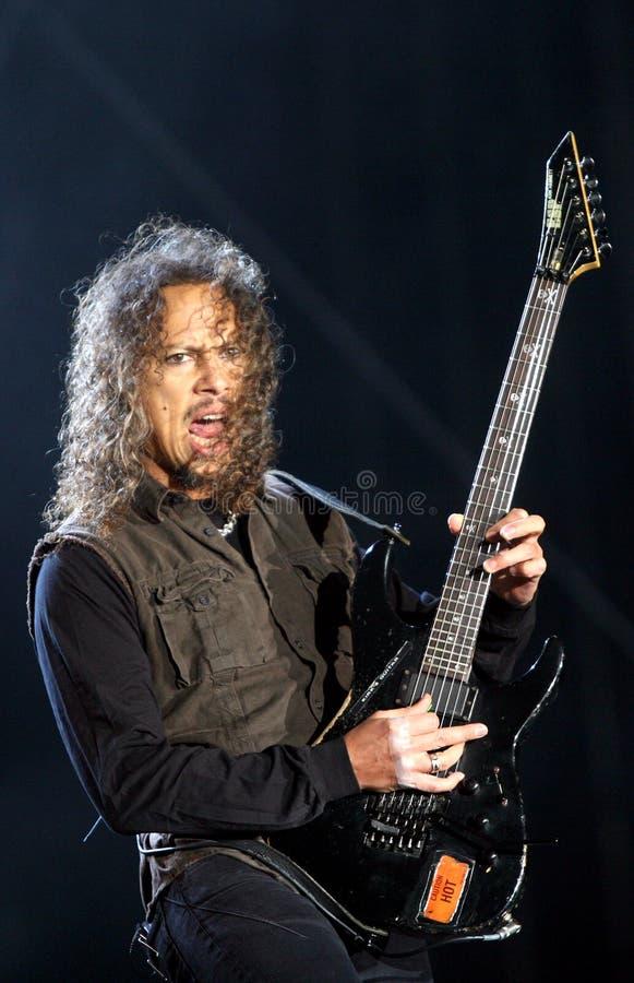 Metallica auf Sopnisphere Festival CZ lizenzfreie stockfotos