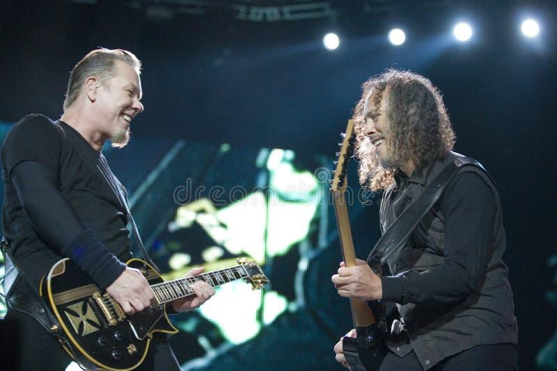 Metallica führt in Budapest durch stockfotografie