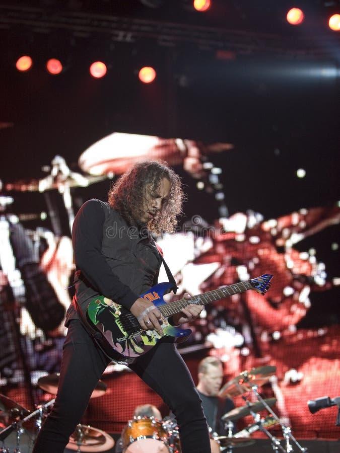 Metallica führt in Budapest durch stockbilder