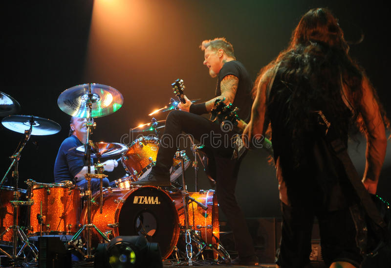 Metallica op reis royalty-vrije stock foto's