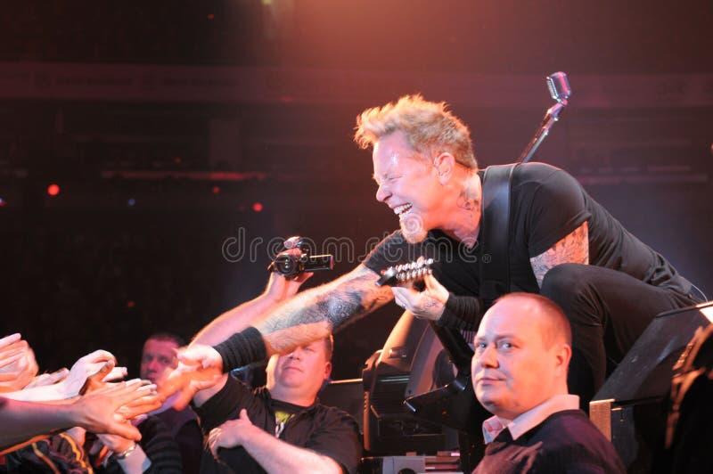 Metallica op reis stock foto's