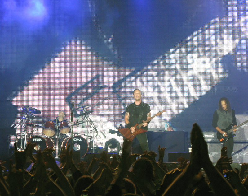 Download Metallica on Tour editorial photography. Image of entertainment - 5855162