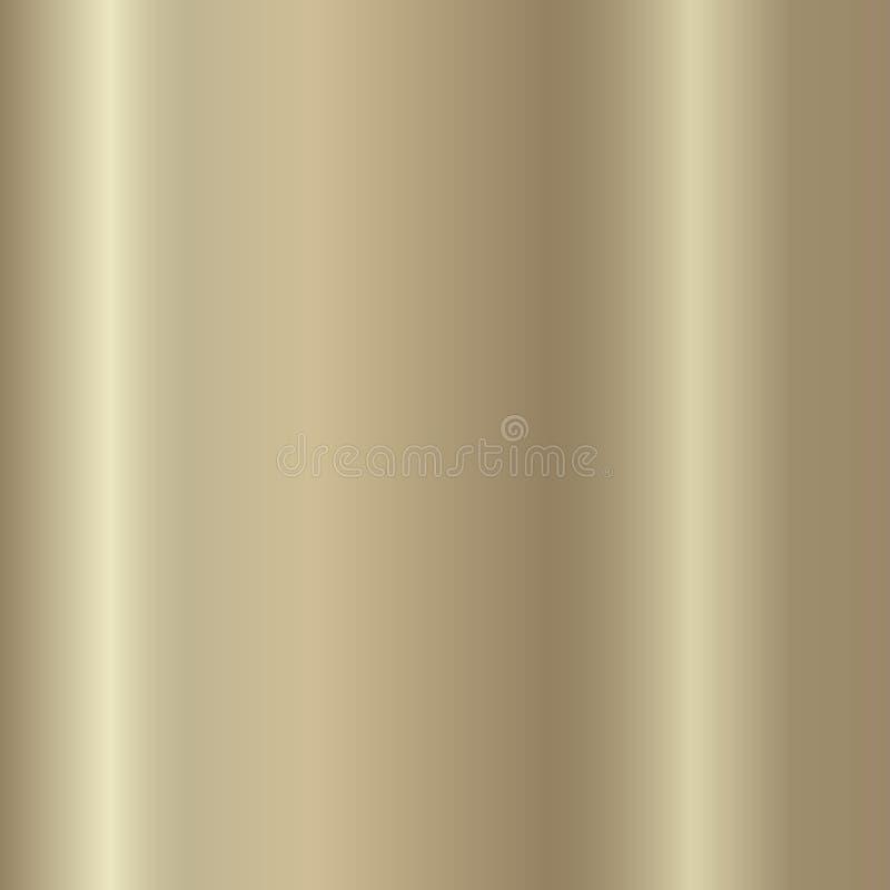 Metallico dorato, bronzeo, argento, cromo, modello di rame di pendenza di struttura del foglio metallizzato illustrazione vettoriale