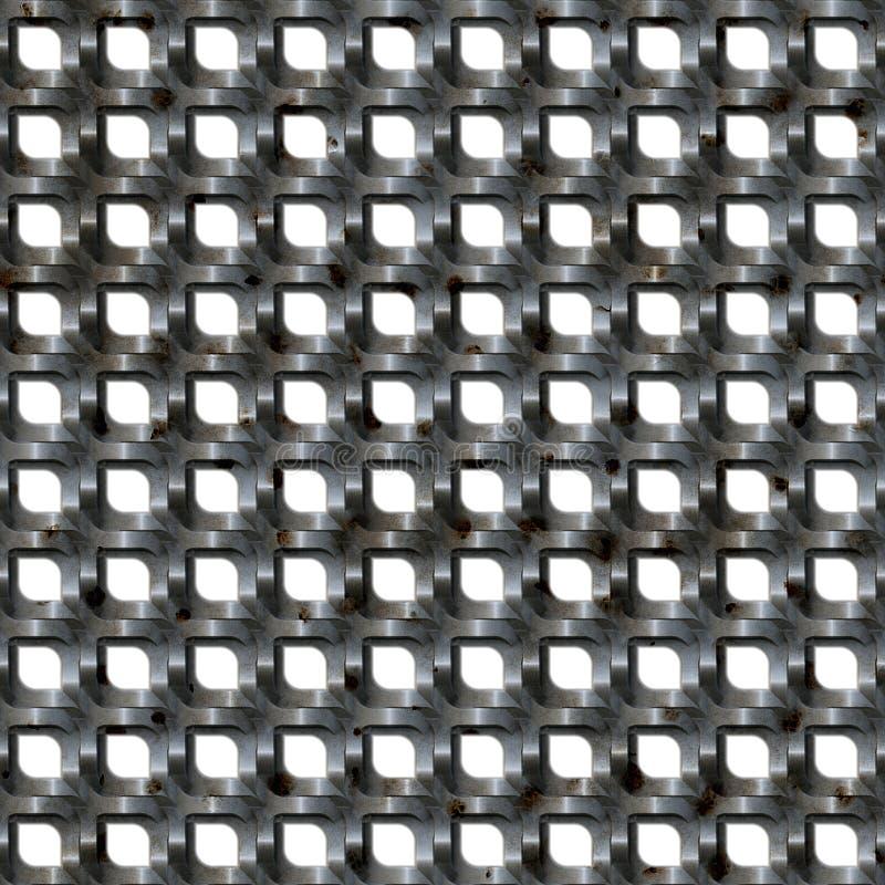 Metallineinander greifen-Grill stock abbildung