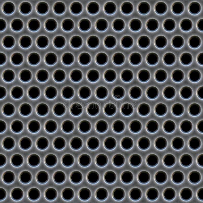 Metallineinander greifen-Muster lizenzfreie abbildung