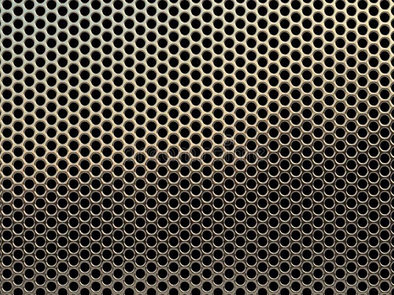 Metallineinander greifengrill stock abbildung