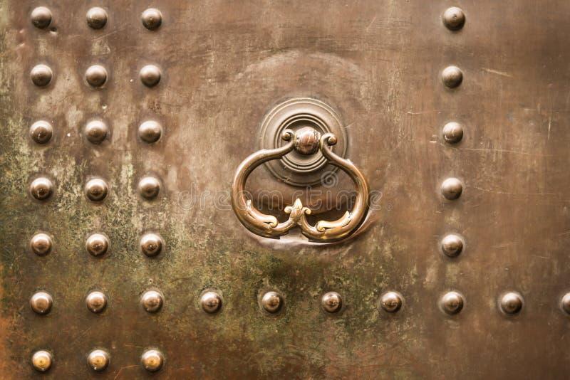 Metallisch, Bolzen, alt, Tür stockfoto