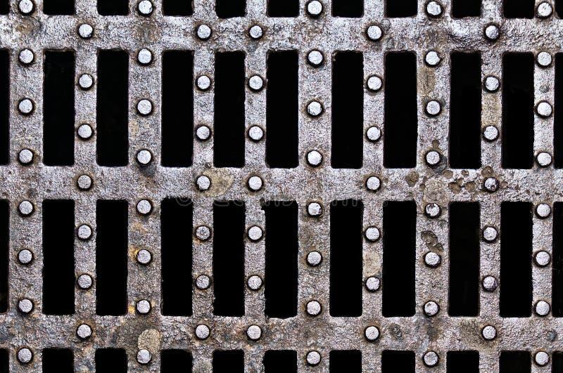 Metallische Beschaffenheiten auf Einsteigeloch lizenzfreie stockfotografie