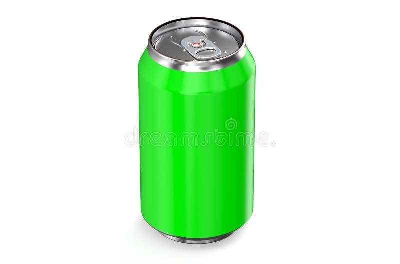 Metallische Dose des grünen Getränks vektor abbildung
