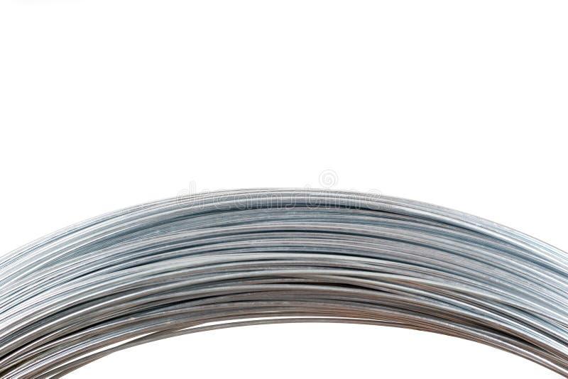 Metallische Drähte getrennt auf Weiß lizenzfreie stockfotografie