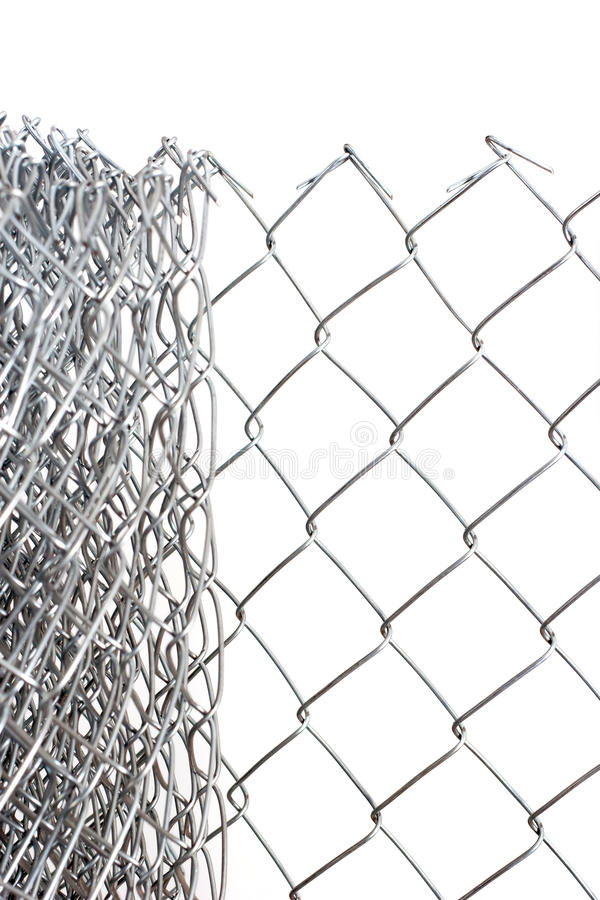 Metallische Drähte getrennt auf Weiß stockbild
