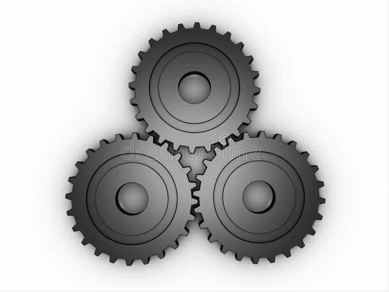 metallische Gänge 3D lizenzfreie abbildung