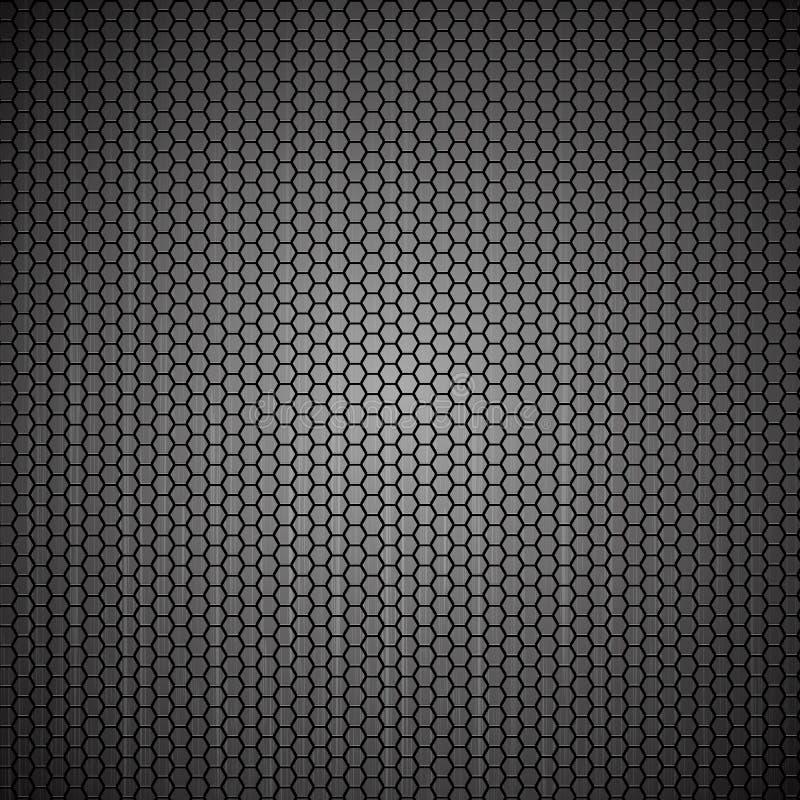 Metallische Hexagonrasterfeldbeschaffenheit vektor abbildung