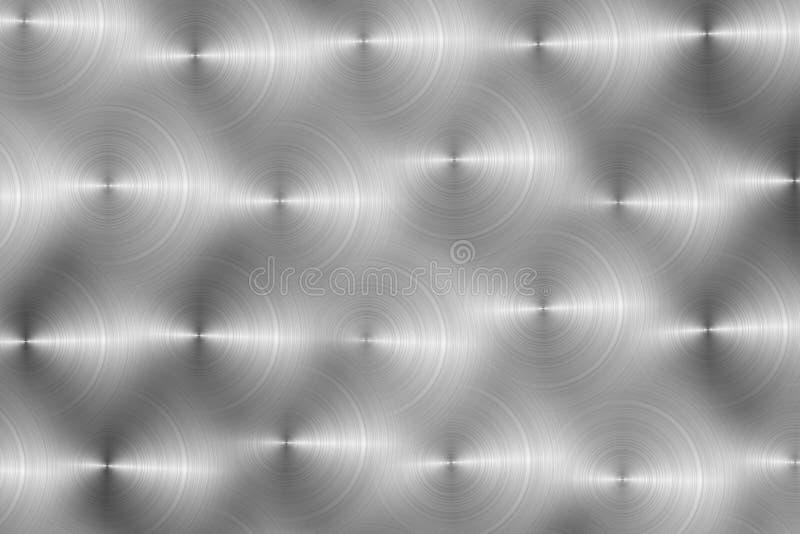 Metallische Hintergrundbeschaffenheit mit Kreismuster stock abbildung