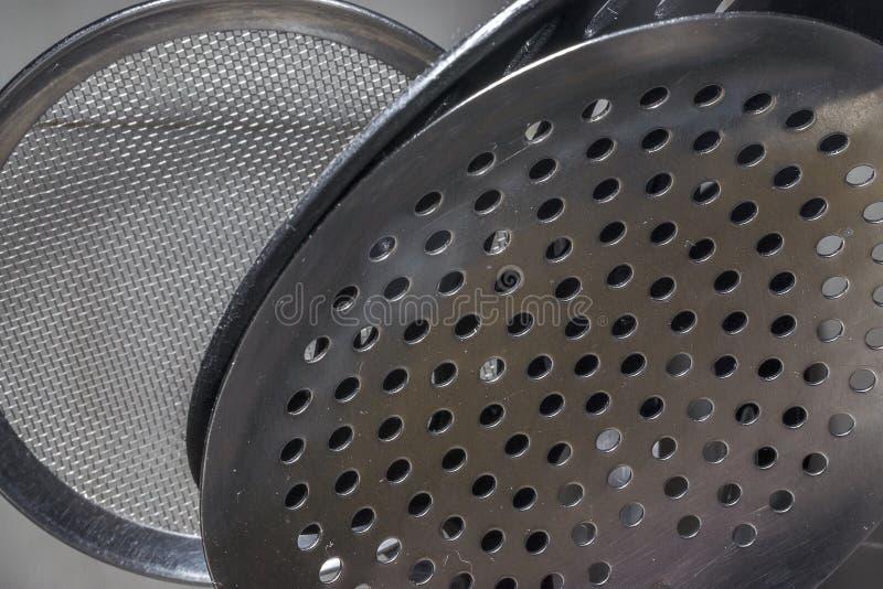 Metallische Küchenwerkzeuge lizenzfreies stockbild