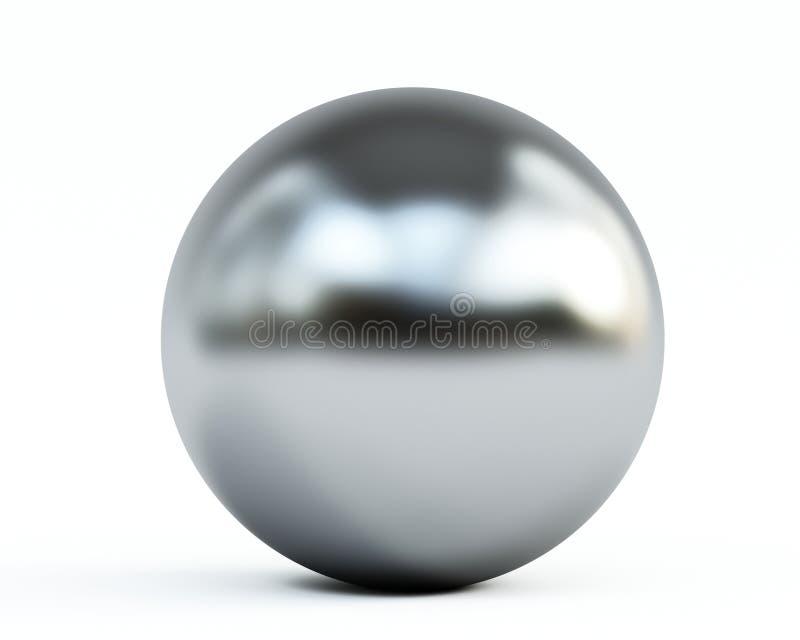 Metallische Kugel auf Weiß vektor abbildung