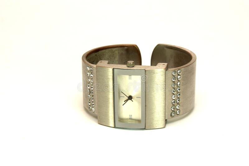 Metallische Uhren stockfotos
