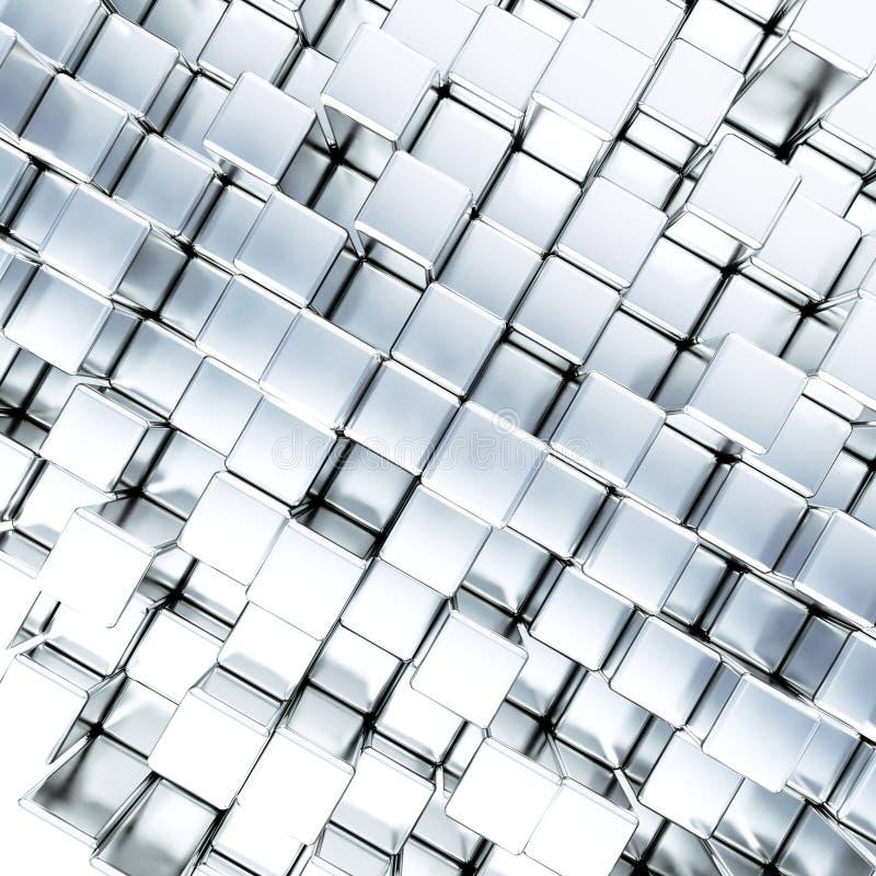Metallische Würfel als Hintergrund stock abbildung