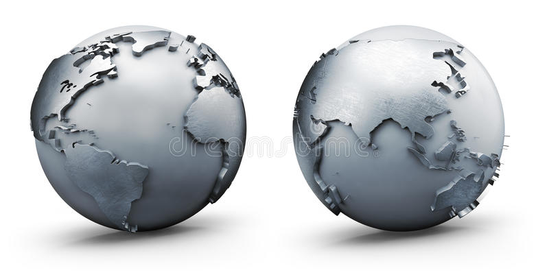 Metallische Welt stock abbildung