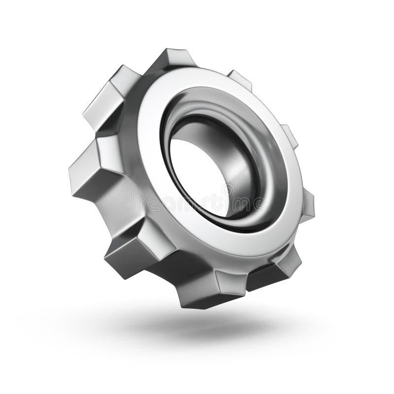metallischer Gang 3D lokalisiert auf weißem Hintergrund stock abbildung