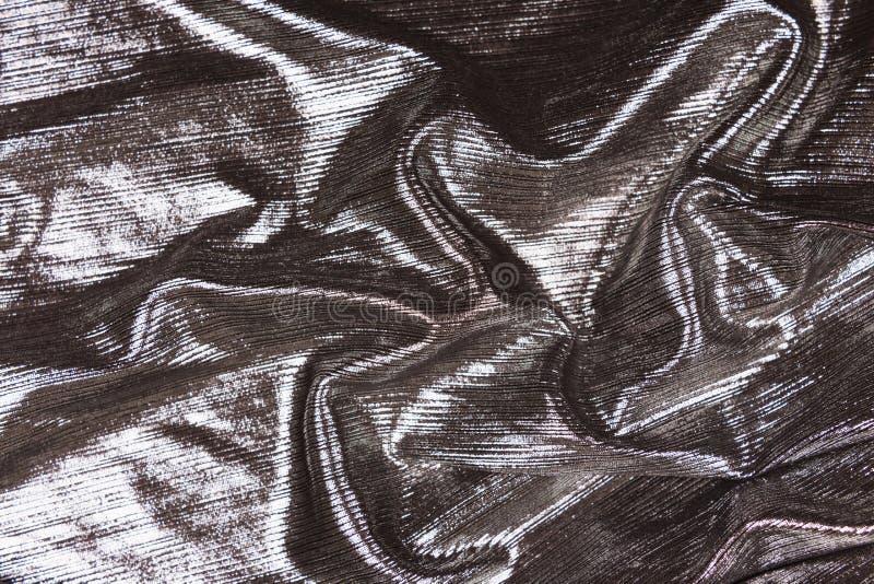 Metallischer grauer Gewebehintergrund stockfotos