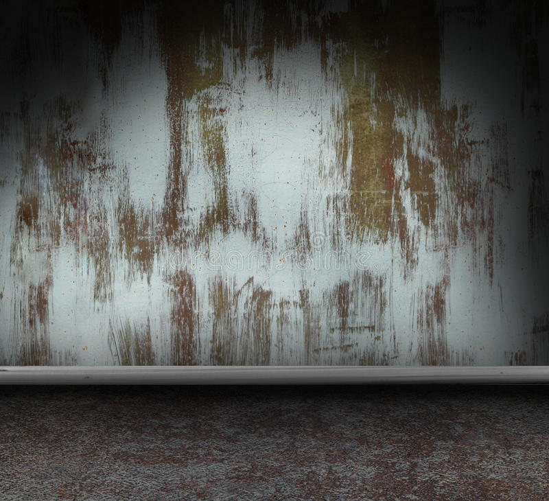 Metallischer grunge Innenraum stock abbildung