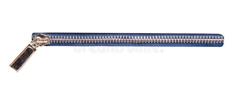 metallischer Reißverschluss lokalisiert stockfotos