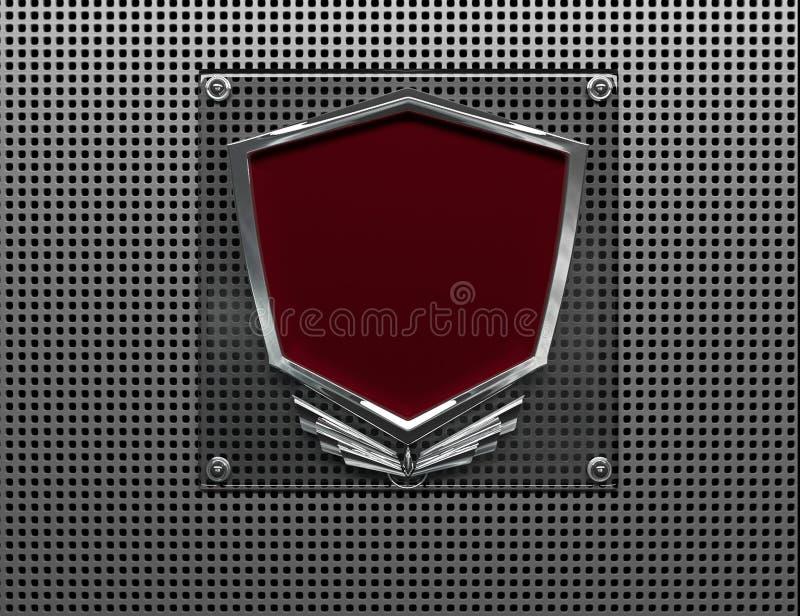 Metallisches Abzeichen lizenzfreie abbildung