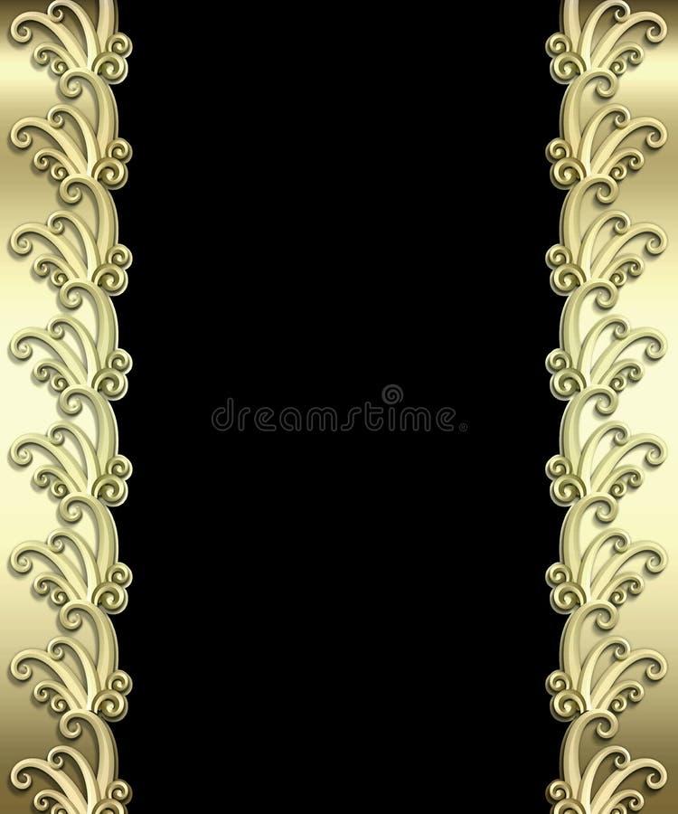 Metallisches Art- DecoFeld lizenzfreie abbildung