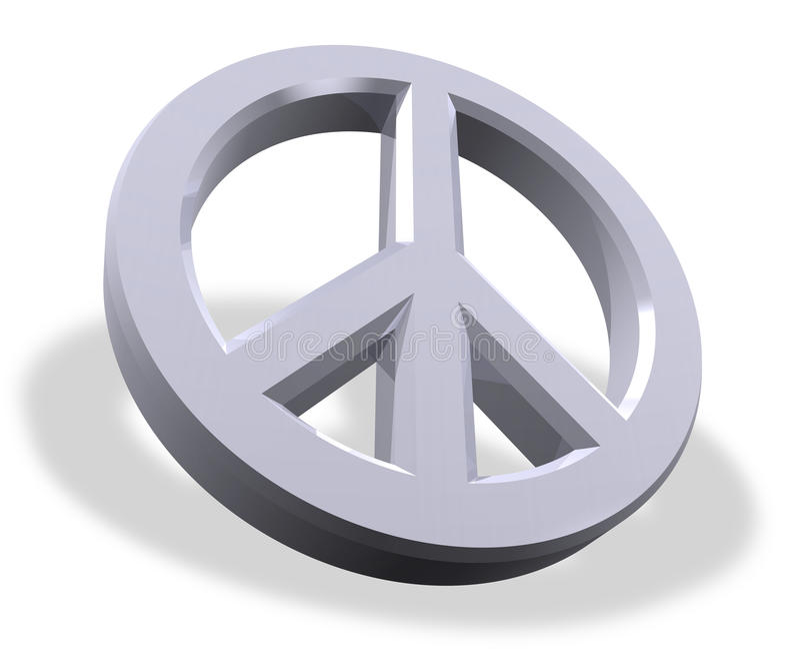 Metallisches Friedenssymbol vektor abbildung