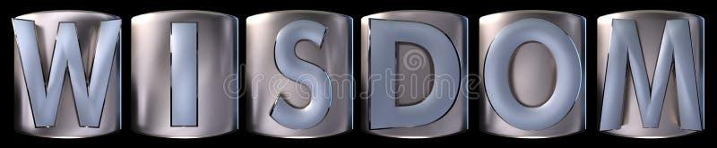Metallisches Klugheitswort stock abbildung