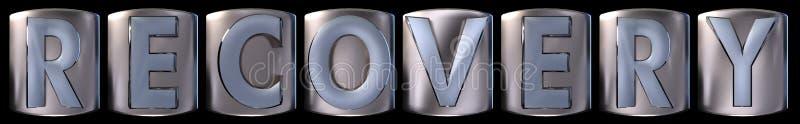 Metallisches Wiederaufnahmewort vektor abbildung