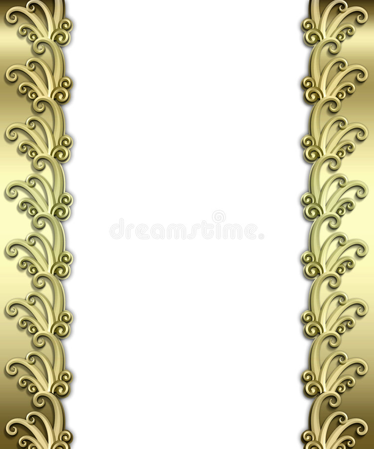 metallisk art décoram stock illustrationer