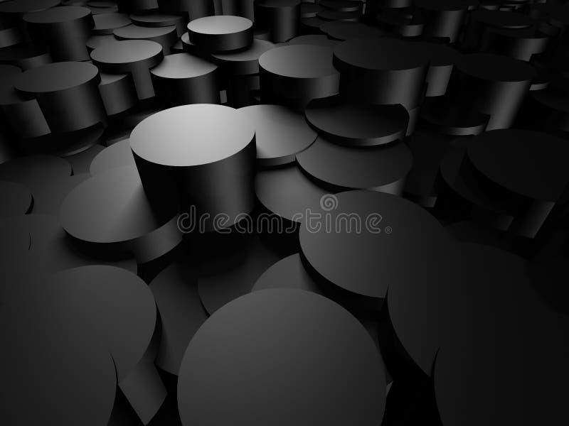 Metallisk bakgrund för abstrakt mörk silver stock illustrationer