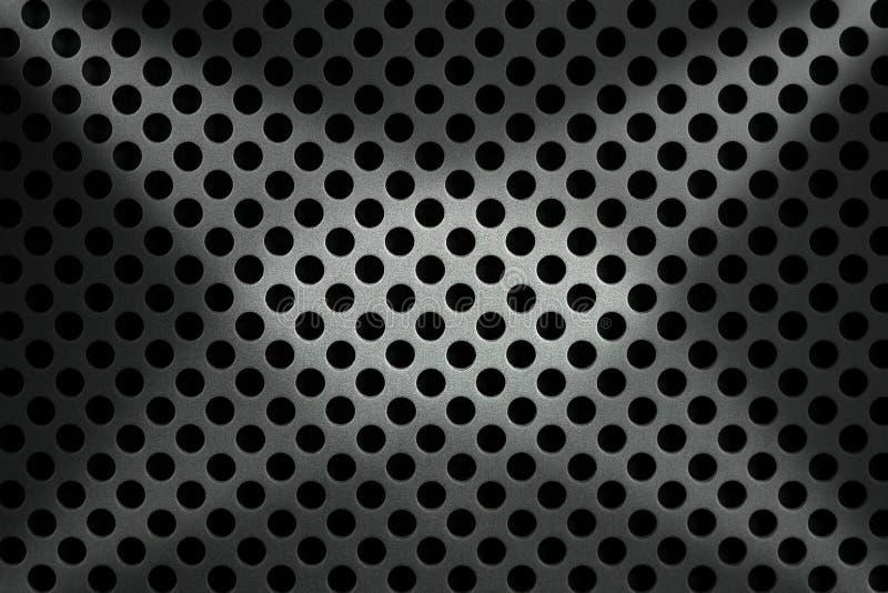Metallisk bakgrund med runda hål royaltyfri illustrationer