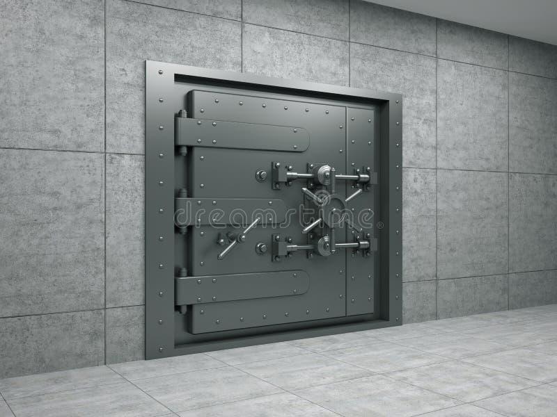 metallisk bankrörelsedörr royaltyfri illustrationer
