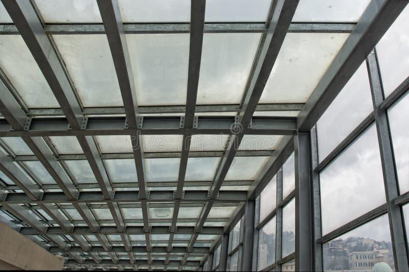 Metallisk byggnadsram arkivfoto