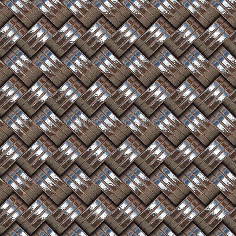 Metallisk cirkelmodell stock illustrationer