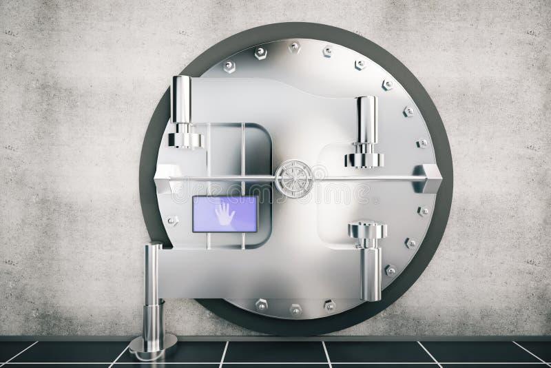 Metallisk dörr för bankvalv vektor illustrationer