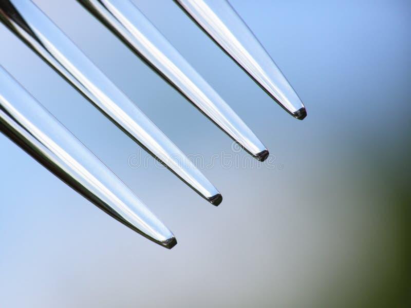 metallisk gaffel royaltyfri foto